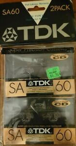 Set Of 2 New Sealed TDK SA 60 Cassettes Type II Made In Japan Assembled In USA