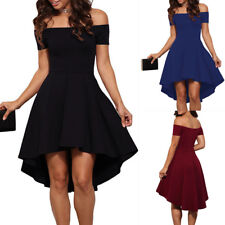 UK Womens Dress Party Evening Skater Short Dresses Cocktail Prom Bridesmaid Gown