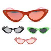Womens Retro Narrow Cat Eye Gothic Mod Trendy Sunglasses