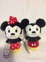 Disney Mickey And Minnie Mouse Hallmark Itty Bitty Mini Plush NWT HTF