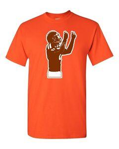 "Johnny Manziel Cleveland Browns ""Manzieling""  T-shirt  shirt ORANGE"