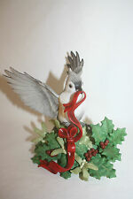 1999 Lenox Christmas Tufted Titmouse Garden Birds Porcelain Figurine Sculpture