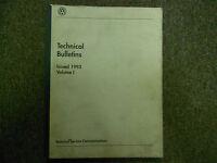 1993 VW Technical Bulletins Service Repair Shop Manual Volume 1 OEM BOOK 93 DEAL