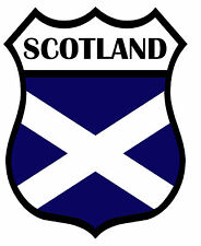 2 x Scotland Shield Flag Decal Car Motorbike Laptop Window Stickers Saltire Navy