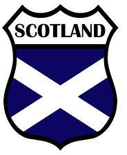 1 x Scotland Shield Flag Decal Car Motorbike Laptop Window Sticker Saltire Navy