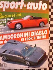 SPORT-AUTO 1989 PORSCHE 944 S2 / BMW M3 + Z1 / MAZDA MIATA + RX 7 / LAMBO DIABLO