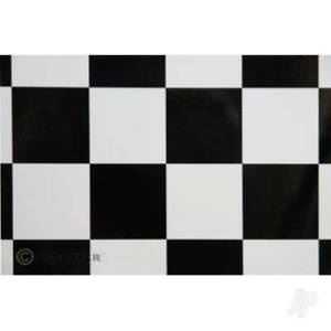 2m ORACOVER Fun-5 Large Chequered, White + Black (60cm width) ORA491-010-071-002