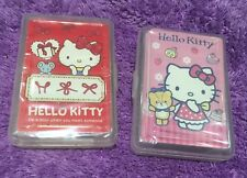 1 Set Hello Kitty Cute Playing Cards Poker in Plastic Case Family Fun Games Gift
