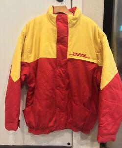 DHL Employee Uniform Heavy Jacket Parka Zip Button Mens 2XL