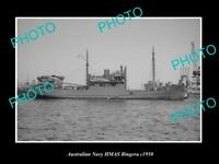 OLD LARGE HISTORIC AUSTRALIAN NAVY PHOTO OF THE HMAS BINGERA SHIP c1950