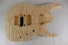 Unfinished RG Jem Engraved JPM Guitar Body JS- Fits Ibanez (tm) Necks P284