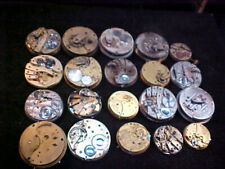 movements for parts Altered Art etc lot of 20 0s-18s pocket watch