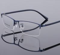 Fashion Steel plate Glasses Frames Women Men Half-rim TR90 Optic RX Eyeglasses