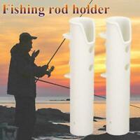 Boat Plastic Rod Holder 2 Tube Fishing Plastic Rod Specially Holder Rack S1A4