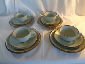 Kalahari Sands StonewareTea set Gourmets pride  green 4 cups,saucers,side plates