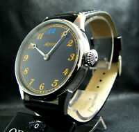 4160 ALPINA UNION HORLOGERE Antique Large Stainless Steel Wristwatch
