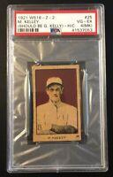 1921 W516-2-2 M. KELLEY (SHOULD BE G. KELLY) - Hand Cut Strip Card PSA 4 (MK)