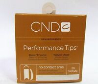 CND Creative Nail Design Tips Performance CLEAR Refill Variations ~ 50ct/pack~
