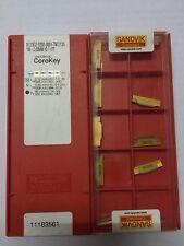 N123 G2-0300-0004-TM2135 *W=3.0mm SANDVIK Carbide Inserts (Pack of 10)