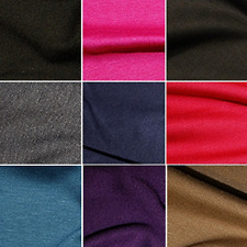 Ponte Roma Soft Knit Jersey Stretch Fabric Polyester Viscose Spandex 150cm Wide