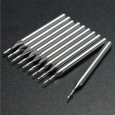 10pcs 1mm 2 Flutes Carbide Flat Nose End Mills CNC Router Bits Cutter HSS Tools