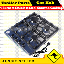 Superior 4 Burners Stainless Steel Caravan Cooktop Camper Trailer Camping Stoves