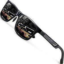 Aluminum HD Polarized Sunglasses Driving Sports Mirrored Glasses Eyewear Black