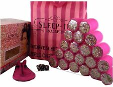 Sleep in Sleep-In Hair Rollers 20 PINK Multi Glitter Gift Set Boxed
