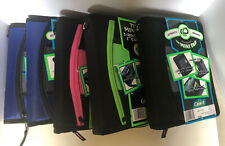 "Case-it Mini Tab 3, 1"" Ring Zippered Binder, 5 Tabs, Assorted Colors, Choose one"