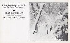 Advertising Gray Rocks Inn Laurentian Mountains ST JOVITE STATION Quebec Canada