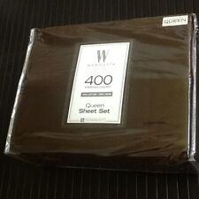 Rich Chocolate Brown 4-piece Wamsutta 400 Tc 100% Cotton Sateen Queen Sheet Set