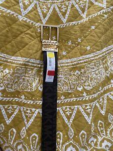 michael kors Two Way Twist Reversible Belt Brown Gold L