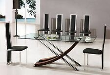 Chrome Up to 8 Seats Modern Table & Chair Sets