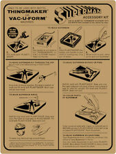 Superman mold instruction sheet for a Mattel Thingmaker (Creepy Crawlers)