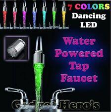 LED Perlator 7 Farben Lichtwechsler Wasserhahn Kopf Waschbecken Bad #102
