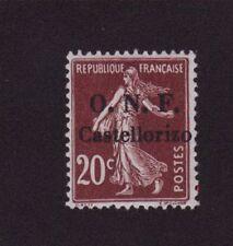 CASTELLORIZO N°30 20 C SEMEUSE SURCHARGE O.N.F. CASTELLORIZO GOMME CHARNIÈRE