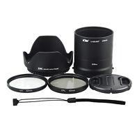 6in1! 62mm UV CPL Filter + Lens Adapter Tube Cap Hood Set for NIKON COOLPIX L840