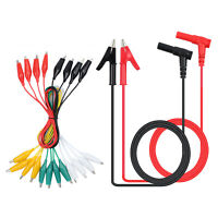 Multimeter Test Lead Set with 2 Banana Test Cables & 5 Alligator Clip Test Leads