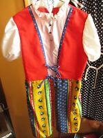NEW NWOT sz 14 True Vtg Girls Colorful Sears Peasant Hippie Dress Costume