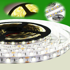 1-10m LED Stripe Warmweiß Kaltweiß Band Leiste Streifen SMD5630 5050 RF Netzteil