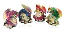 Sparkle Dragons Hover Over Skulls - Maroon, Green, Red, Green Fantastic Detail