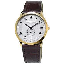 Frédérique Constant Slimline Mens FC-235M4S5 Quartz Gold-Tone Case 37mm Watch