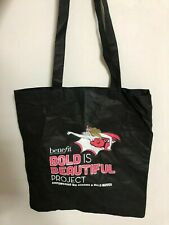 "Benefit ""Bold is Beautiful Project"" Shopping Shoulder Tote Bag Black"