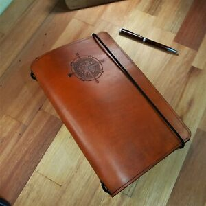Rose Compass Traveler's Notebook A5 Leather Journal Diary Refillable Gift. Book