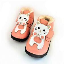 Mädchen Winter Echtleder Stiefel Fell Profil Boots warm gefüttert Kitty 24 rosa