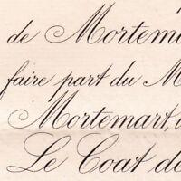 Victurnien De Rochechouart Mortemart Paris 1892 Gabrielle Le Coat De kervéguen