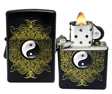 Zippo Lighter 28829 Chinese Yin Yang Black Matte Classic Windproof Pocket NEW