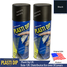 2x Black PlastiDip - Plasti Dip / Rubber Paint - Spray Aerosol Can - Matt