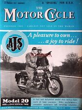 21 Feb 1957 A.J.S. 'Model 20' 498cc Motor Cycle ADVERT - Magazine Cover Print