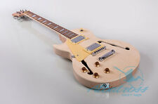 DIY Left Handed Semi-Hollow Set-In Neck Electric Guitar Kit Project G014L